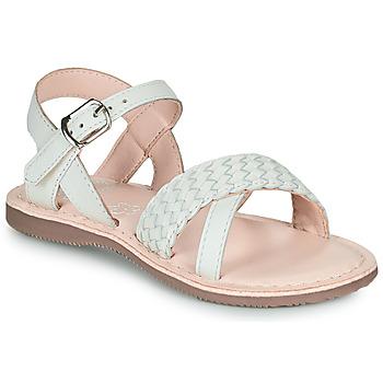 Chaussures Fille Sandales et Nu-pieds Little Mary LIANE 19-BLANC