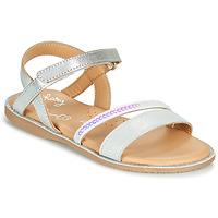 Schuhe Mädchen Sandalen / Sandaletten Little Mary DOLERON *METAL ARGENT