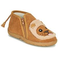 Schuhe Kinder Hausschuhe Little Mary LIONZIP BEIGE
