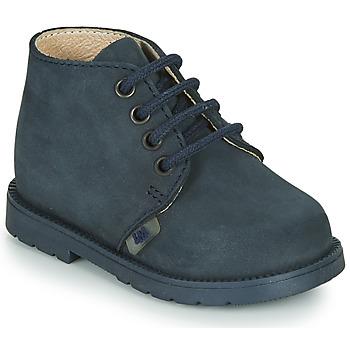 Chaussures Garçon Boots Little Mary GINGO NUBUCK MARINE