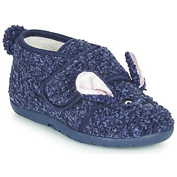Schuhe Kinder Hausschuhe Little Mary LAPINVELCRO Blau