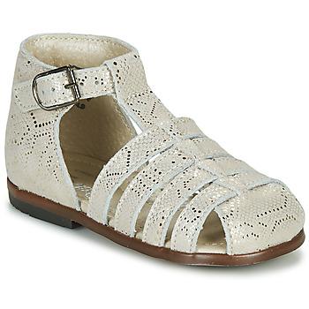 Chaussures Fille Sandales et Nu-pieds Little Mary JULES MINI PYTHON DORE