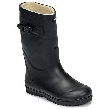 Scarpe Unisex bambino Stivali da pioggia Aigle WOODY POP FUR