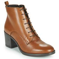 Schuhe Damen Low Boots André EDONY Kamel