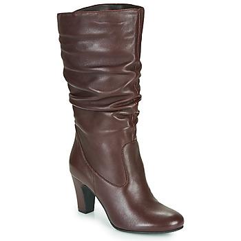 Schuhe Damen Klassische Stiefel André LALALY Bordeaux