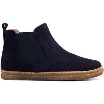 Chaussures Enfant Boots Boni & Sidonie Boots à enfiler en daim - KOLA Daim Bleu Marine