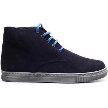 Chaussures Garçon Boots Boni & Sidonie Chaussures à lacet en daim souple - JACK Daim Bleu Marine
