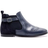 Chaussures Enfant Boots Boni & Sidonie Boots en cuir et daim - BEN Daim Bleu Marine