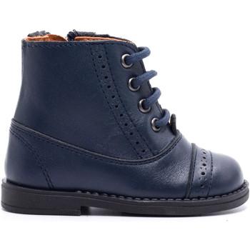 Chaussures Enfant Boots Boni & Sidonie Boots à enfiler en cuir - ROMARIC Bleu Marine