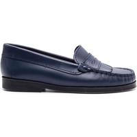 Chaussures Enfant Mocassins Boni & Sidonie Mocassins à frange en cuir - LINA Bleu Marine