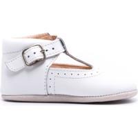Chaussures Enfant Chaussons bébés Boni & Sidonie Chaussons en cuir souple - JOHAN Blanche