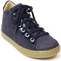 Chaussures Fille Bottines Shoo Pom Bottines cuir bleu