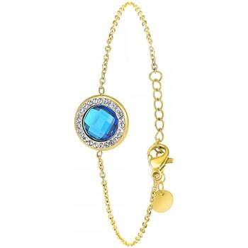 Montres & Bijoux Femme Bracelets Sc Crystal B2125-BLEU Doré
