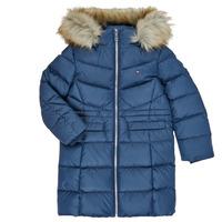 Kleidung Mädchen Daunenjacken Tommy Hilfiger KG0KG05397-C87-C Marineblau