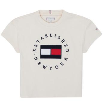 Vêtements Fille T-shirts manches courtes Tommy Hilfiger KG0KG05503-Z00-J
