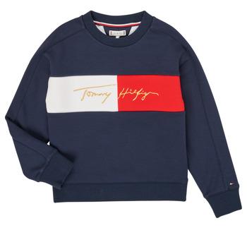 Kleidung Mädchen Sweatshirts Tommy Hilfiger KG0KG05497-C87-J Marineblau