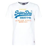Kleidung Herren T-Shirts Superdry VL TRI TEE 220 Weiß