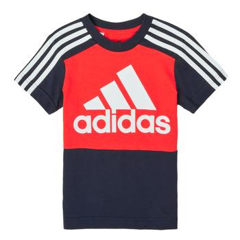 Kleidung Jungen T-Shirts adidas Performance B CB T Rot / Marineblau