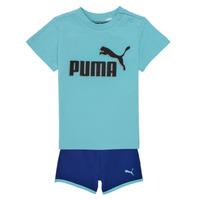 Kleidung Jungen Kleider & Outfits Puma BB SET ANGEL Blau