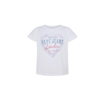 Kleidung Mädchen T-Shirts Pepe jeans PIPER Weiß