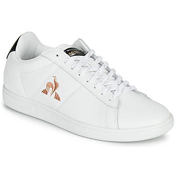 Schuhe Damen Sneaker Low Le Coq Sportif COURTSET Weiß
