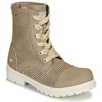 Schuhe Damen Boots Mustang FRAPINA Beige