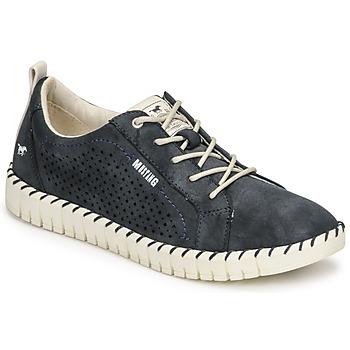 Schuhe Damen Sneaker Low Mustang NINA Marineblau