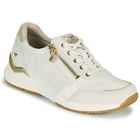 Schuhe Damen Sneaker Low Mustang ANINTA Weiß / Golden