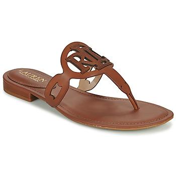 Schuhe Damen Sandalen / Sandaletten Lauren Ralph Lauren AUDRIE Kognac
