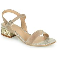 Schuhe Damen Sandalen / Sandaletten Perlato 11817-CAM-FREJE-STONE Beige / Golden