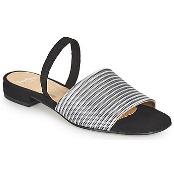 Schuhe Damen Sandalen / Sandaletten Perlato 11117-YORK-ARGENT-CAM-NOIR Silber