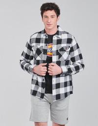 Kleidung Herren Langärmelige Hemden Dickies NEW SACRAMENTO SHIRT BLACK Weiß