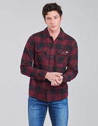 Abbigliamento Uomo Camicie maniche lunghe Dickies NEW SACRAMENTO SHIRT MAROON