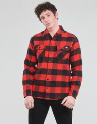 Kleidung Herren Langärmelige Hemden Dickies NEW SACRAMENTO SHIRT RED Rot