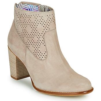 Schuhe Damen Low Boots Dorking ALEXA Beige