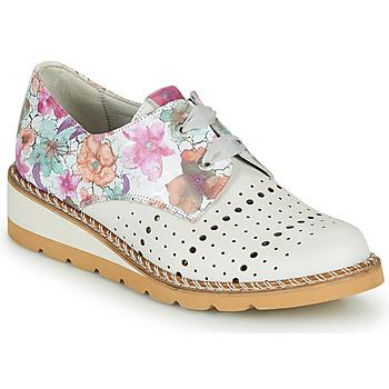 Schuhe Damen Derby-Schuhe Dorking TETRIS Weiß / Bunt