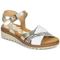 Schuhe Damen Sandalen / Sandaletten Dorking ESPE Weiß / Silbrig