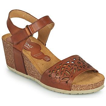 Schuhe Damen Sandalen / Sandaletten Dorking PALMA Braun,