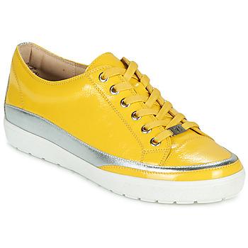 Schuhe Damen Sneaker Low Caprice 23654-613 Gelb / Silbrig