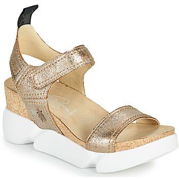 Schuhe Damen Sandalen / Sandaletten Fly London SENA Golden