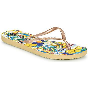Schuhe Damen Zehensandalen Desigual FLIP FLOP TROPICUBAN Golden