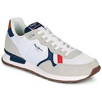 Schuhe Herren Sneaker Low Pepe jeans BRITT MAN BASIC Weiß / Beige