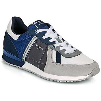 Schuhe Herren Sneaker Low Pepe jeans TINKER ZERO 21 Grau / Blau