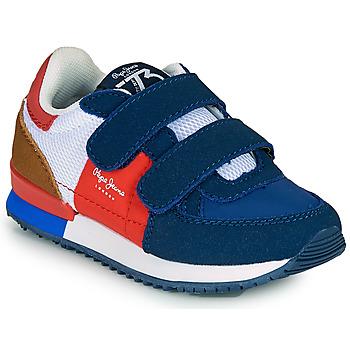 Schuhe Jungen Sneaker Low Pepe jeans SYDNEY TREND BOY KIDS SS21 Blau / Rot