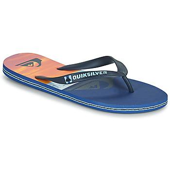 Schuhe Herren Zehensandalen Quiksilver MOLOKAI PANEL Blau / Orange