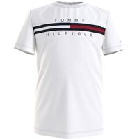 Kleidung Jungen T-Shirts Tommy Hilfiger KB0KB06532-YBR Weiß
