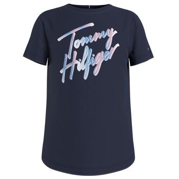 Vêtements Fille T-shirts manches courtes Tommy Hilfiger KG0KG05870-C87