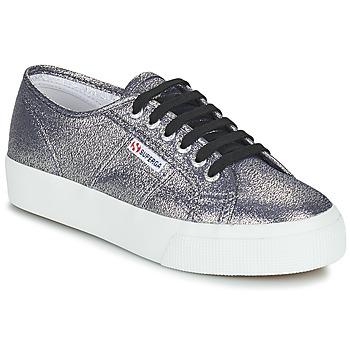 Schuhe Damen Sneaker Low Superga 2730 LAMEW Silbrig