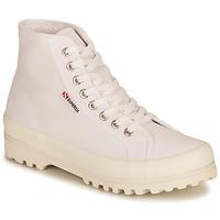Schuhe Damen Sneaker High Superga 2341 ALPINA COTU Weiß