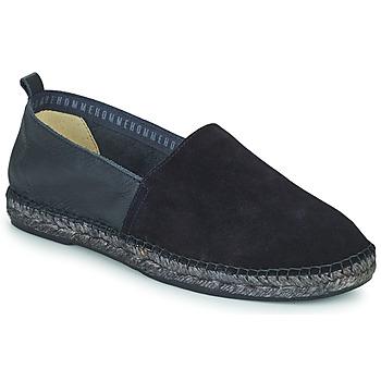 Schuhe Herren Leinen-Pantoletten mit gefloch Selected AJO NEW MIX Marineblau